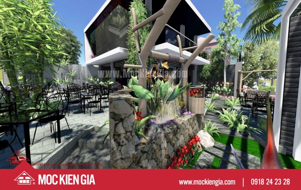Dự án thiết kế nhà hàng cafee