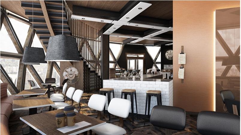 thiết kế quán cafe sang trọng